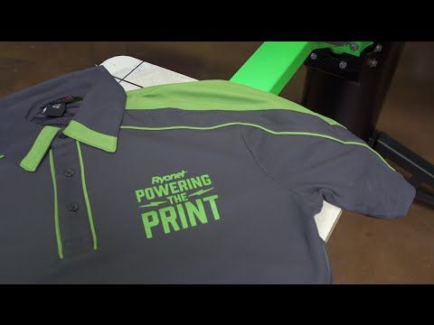How To Screen Print on Ink-Thirsty Performance Polo Shirts - YouTube