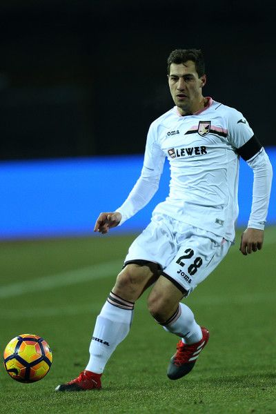 Mato Jajalo of US Citta' di Palermo in action during the Serie A match between Empoli FC and US Citta di Palermo at Stadio Carlo Castellani on January 7, 2017 in Empoli, Italy.