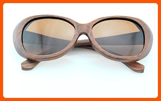 Wood Life Handmade Natural Hardwood100% Uv400 Unisex Polarized Sunglasses Red Lenses UVA Retro Fashionable Outdoor Leisure - Sunglasses (*Amazon Partner-Link)