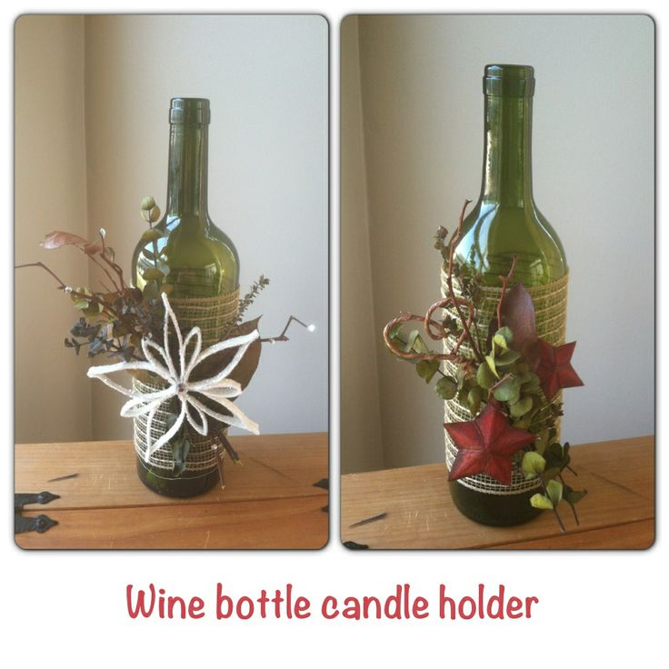 how to put a candle in a wine bottle