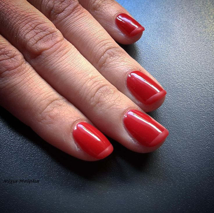 french nails~red nails~matte nails