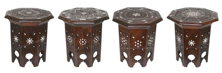 Mother of Pearl Inlaid Wooden Side Table - MOP-ST073, $350.00 (http://www.badiadesign.com/moroccan-mother-of-pearl-inlaid-wooden-side-table-mop-st073/), bone inlay side table, side table, Moroccan bone inlay side table, table, coffee table