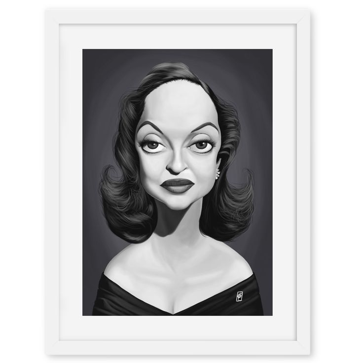 Bette Davis art | decor | wall art | inspiration | caricatures | home decor | idea | humor | gifts