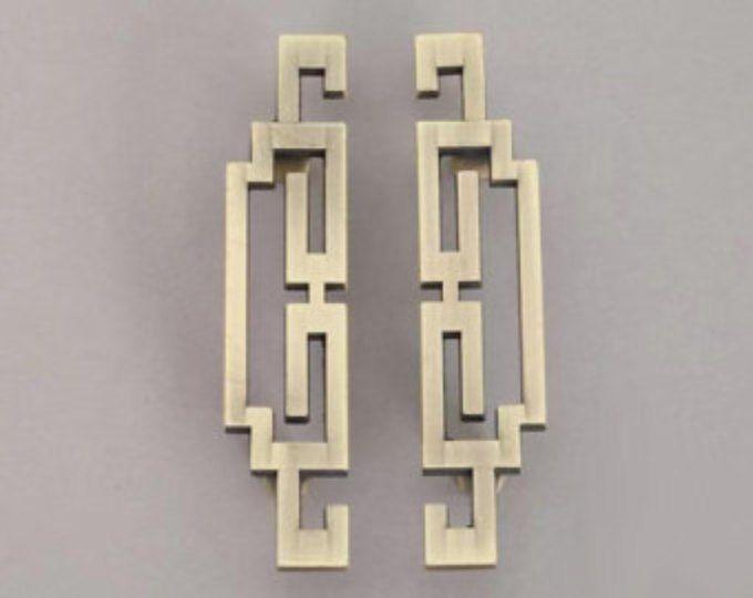 "5.6"" paar Chinese stijl antiek symmetrie trekt knoppen/lade grepen/omgaat met antiek messing keukenkast Pull/deur handvat/dressoir lade"
