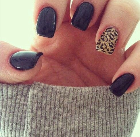 black and patterned