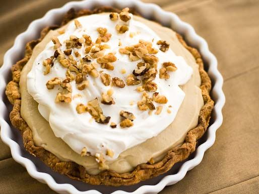 Butterscotch Pudding Pie. Homemade butterscotch beats the box by leaps and bounds. #recipe