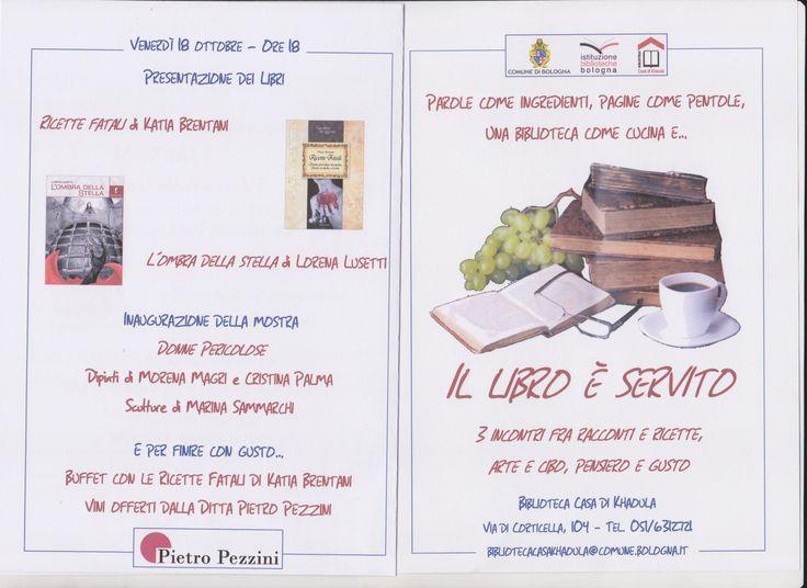 18 ottobre ore 18 Racconti e ricette - Arte e cibo Biblioteca Casa di Khaoula via di Corticella n. 104 - Bologna