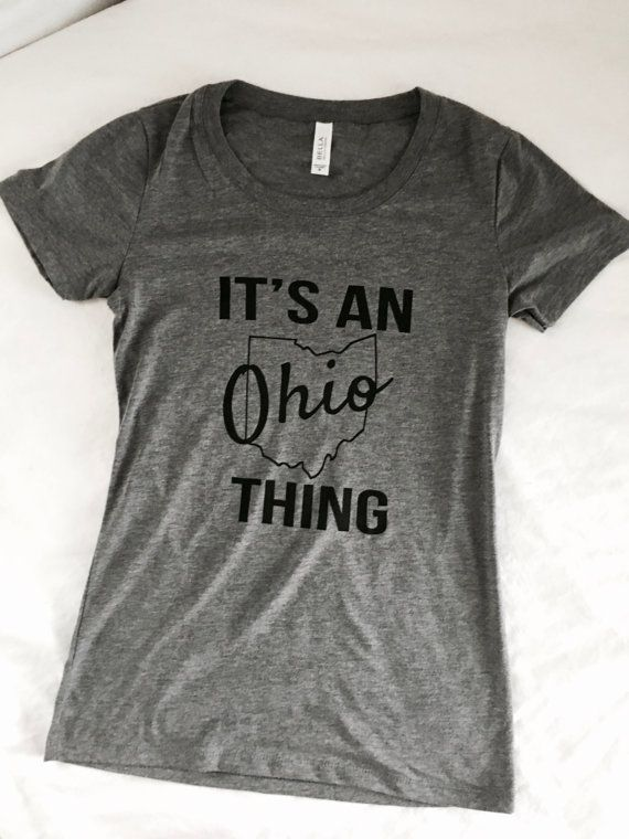 Ohio Short Sleeve Tee  Womens Ohio State Shirt  by UrbanPineapple