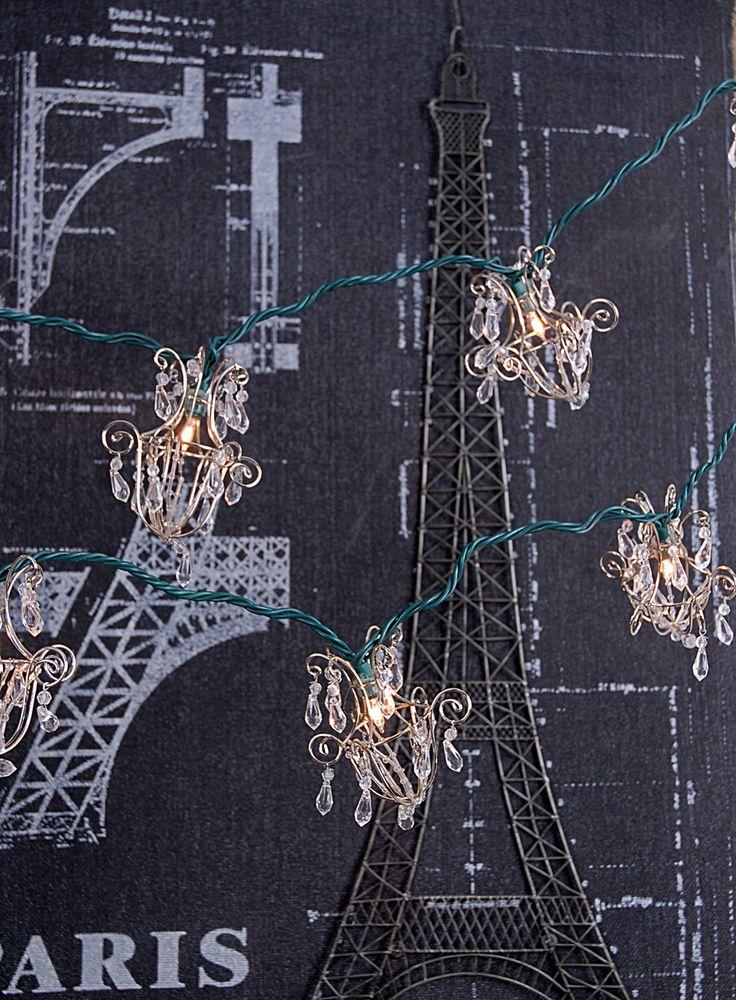 Mini Chandelier String Lights