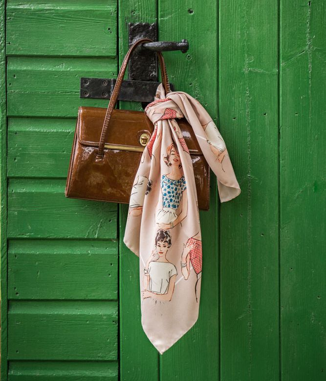 Our scarves feature a range of characters we have restored and given new life to from vintage illustrations.