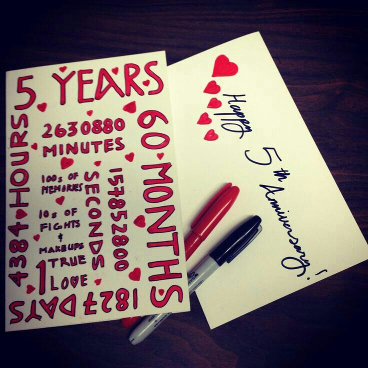 beautiful lines for5th wedding anniversary%0A   year Anniversary card I u    ll make when its been   years