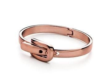Belt Buckle Bangle in rose gold $10 Available at Tranquility