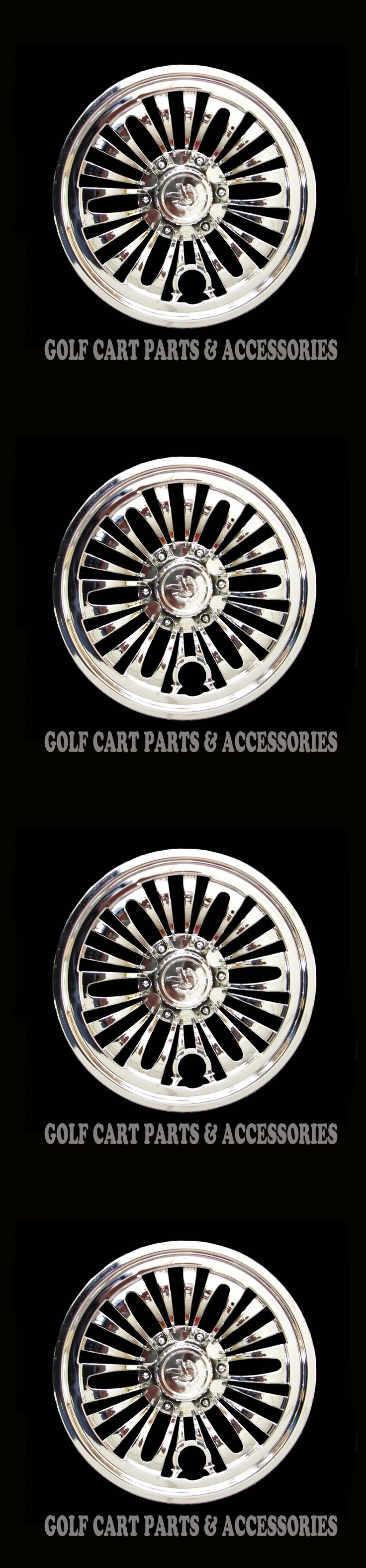 Other Golf Accessories 1514: (4) Chrome 8 Golf Cart Hub Caps - Ezgo, Club Car, Yamaha Set Of 4 Wheel Covers -> BUY IT NOW ONLY: $37 on eBay!