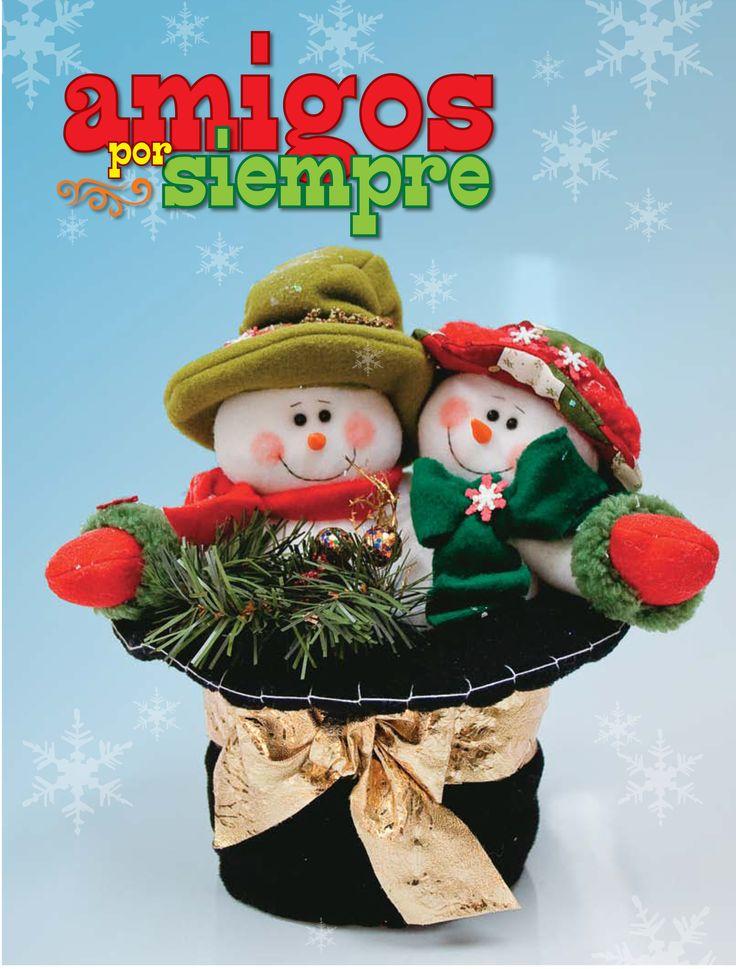 Moldes o patrones para elaborar hermosos muñecos navideños ALBUM 50 WhatSap +584124278063