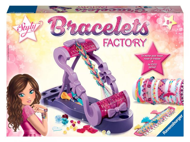 Ravensburger - Jeux créatifs - Bracelets factory #ravensburger #loisirscreatifs #jeuxcreatifs #bracelet #idéecadeau #cadeauxdenoel #designinspiration