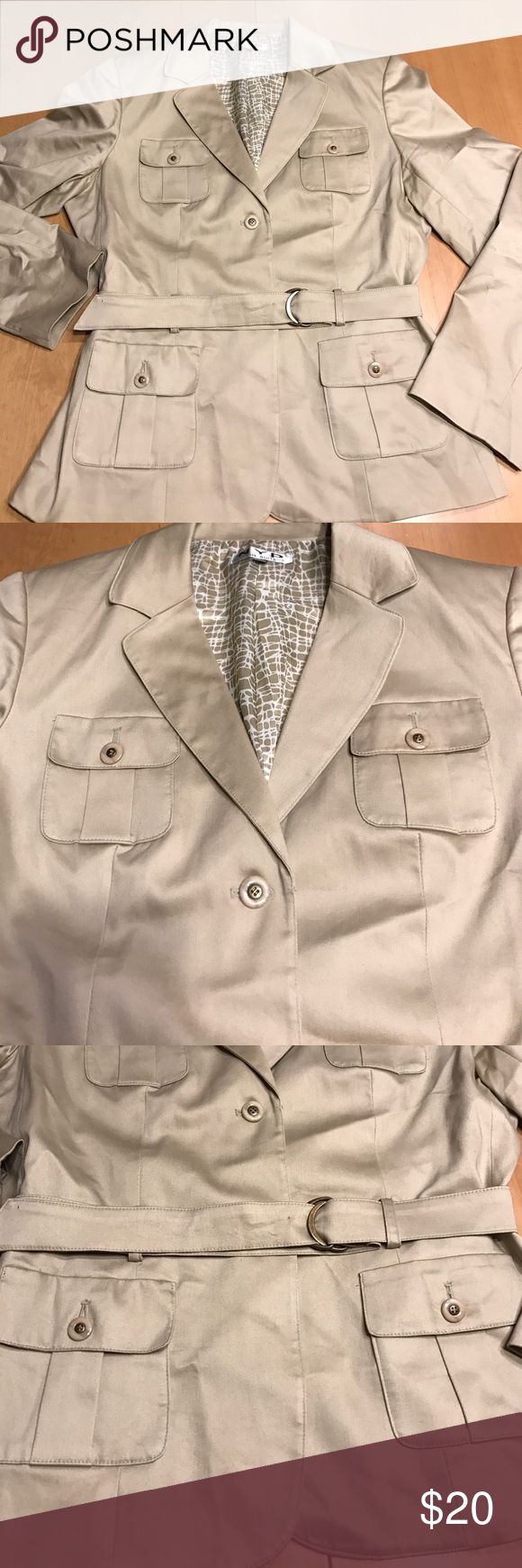 NYP suit jacket NWOT great safari style sz 16 Great jacket. Very cute on. New without tags! Check out my other items the same size. Make a bundle and offer! Comes from a pet free smoke free home. Jackets & Coats Blazers