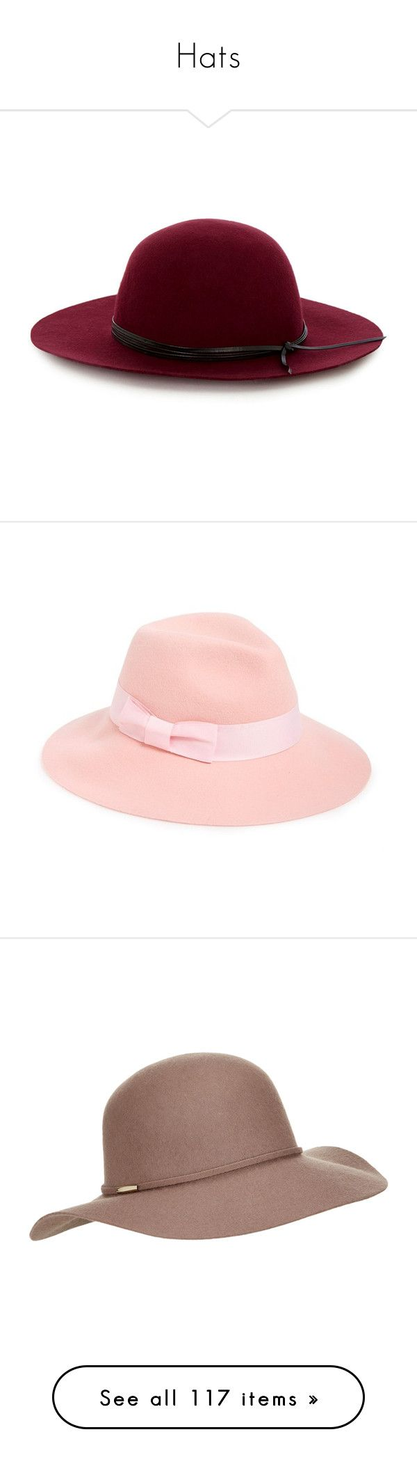 """""""Hats"""" by laumariborche on Polyvore featuring accessories, hats, red, red floppy hat, red fedora hat, red fedora, floppy hat, red hat, blue y acce"""