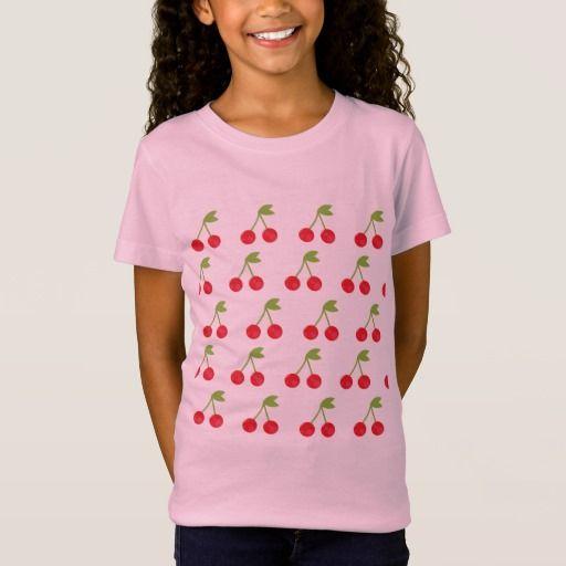 Kids cherry fruit T-Shirt / Pink