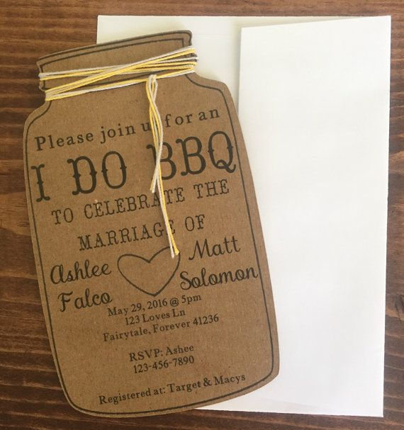 I do bbq invitations mason jar invitations rehearsal by FalcoClan