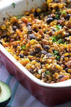 Healthy Black Bean Casserole  simplegreenmoms.com  #glutenfree #delicious