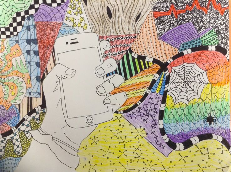 Line Art Projects Middle School : Contour hand creative lines great middle school project o