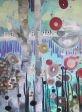 """Trylle tanker""    Olie og acryl på lærred  100 x 120 cm  -Jeanette Uldall"