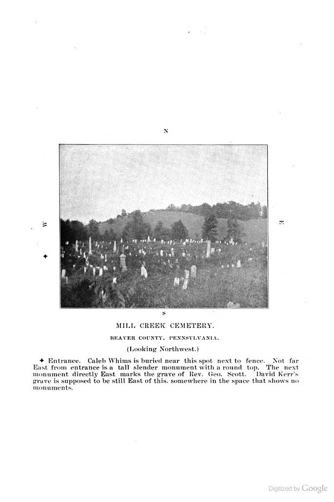Picture of Old Mill Creek Cemetery 1898