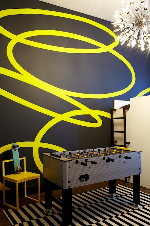 graphic wall mural - inspiration for canvas painting