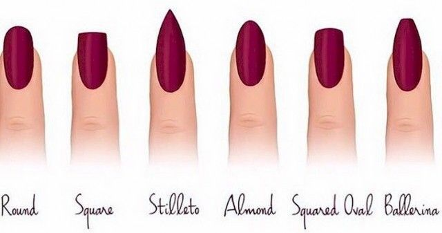 acrylic nail shapes - Google Search I think I'm going to try Almond shape so I don't poke my eyes out doing lashes and make-up.