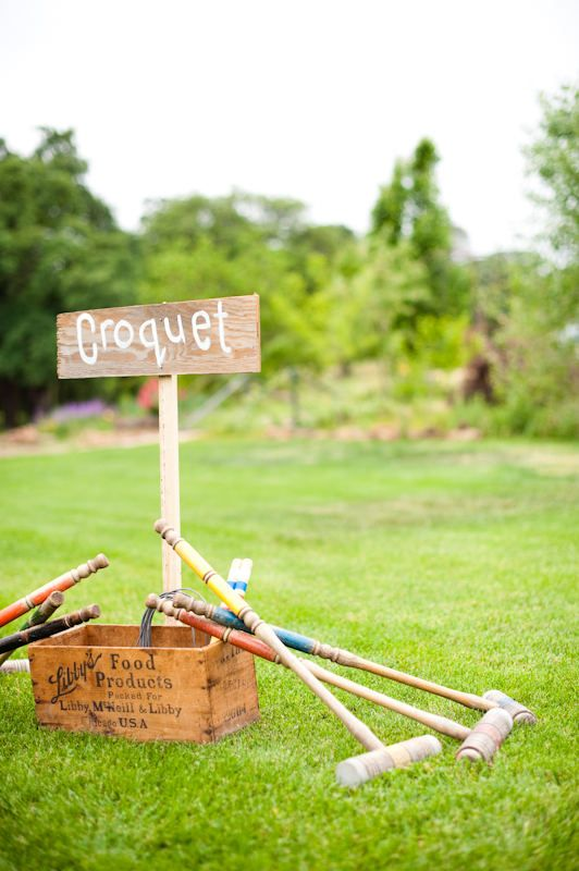 Croquet and Bocce Ball are basically besties as far as I'm concerned. I love the signs too. They almost encourage people to play.