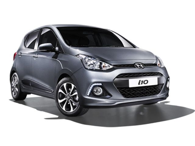 Car Specifications: Hyundai I10, 1200cc, automatic, 5 seats, 5 doors.  Extra: A/C, radio, CD player