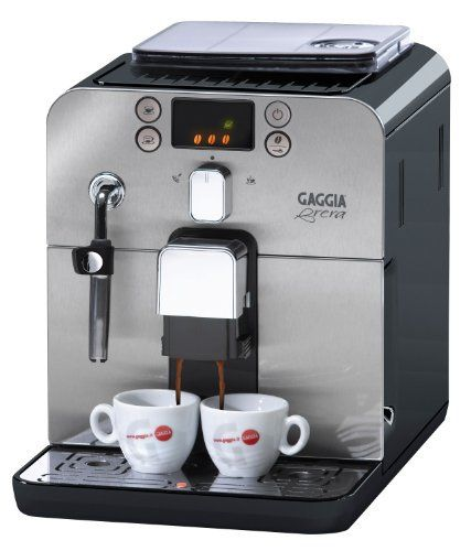 Gaggia Brera Superautomatic Espresso Machine is a fully equipped super-automatic espresso machine with a compact footprint.