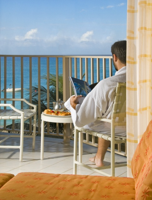 Room ocean view at the Grand Cayman Marriott Beach Resort. This is the perfect way to start the day!