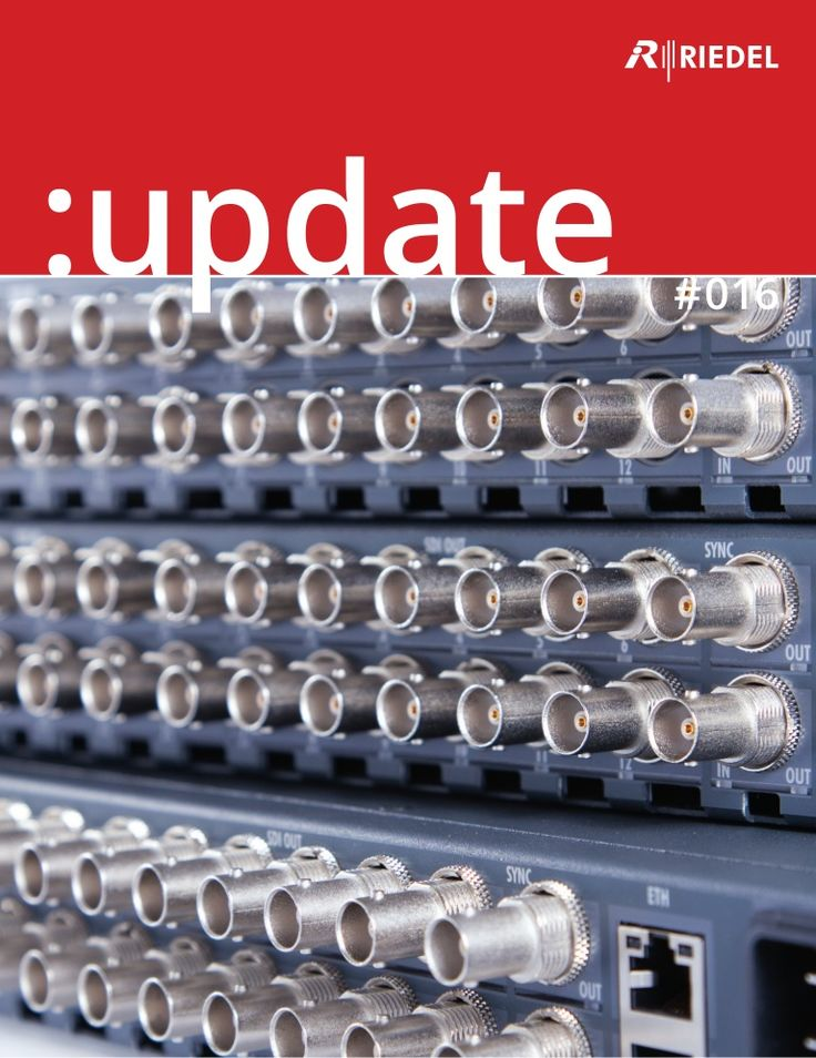 Our current update brochure (No. 16) is now available as a PDF. There you find our new products (e. g. MediorNet #MicroN) presented in detail and some recent project reports. #Riedel #RiedelCommunications