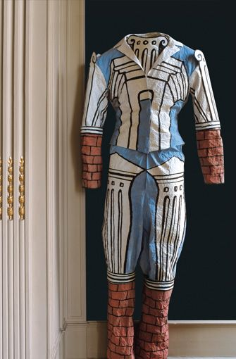 Isabelle de Borchgrave - Paper costume of the Guest from Le Bal, ballet created in 1929 and whose costumes were designed by Giorgio de Chirico.