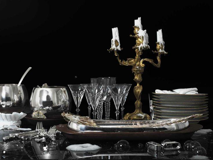 Kay Bojesen silver Grand Prix cutlery, bowl, and fish plate. Kay Bojesen silver. Danish Design