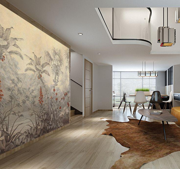 les 25 meilleures id es de la cat gorie papier peint foret sur pinterest peinture murale for t. Black Bedroom Furniture Sets. Home Design Ideas