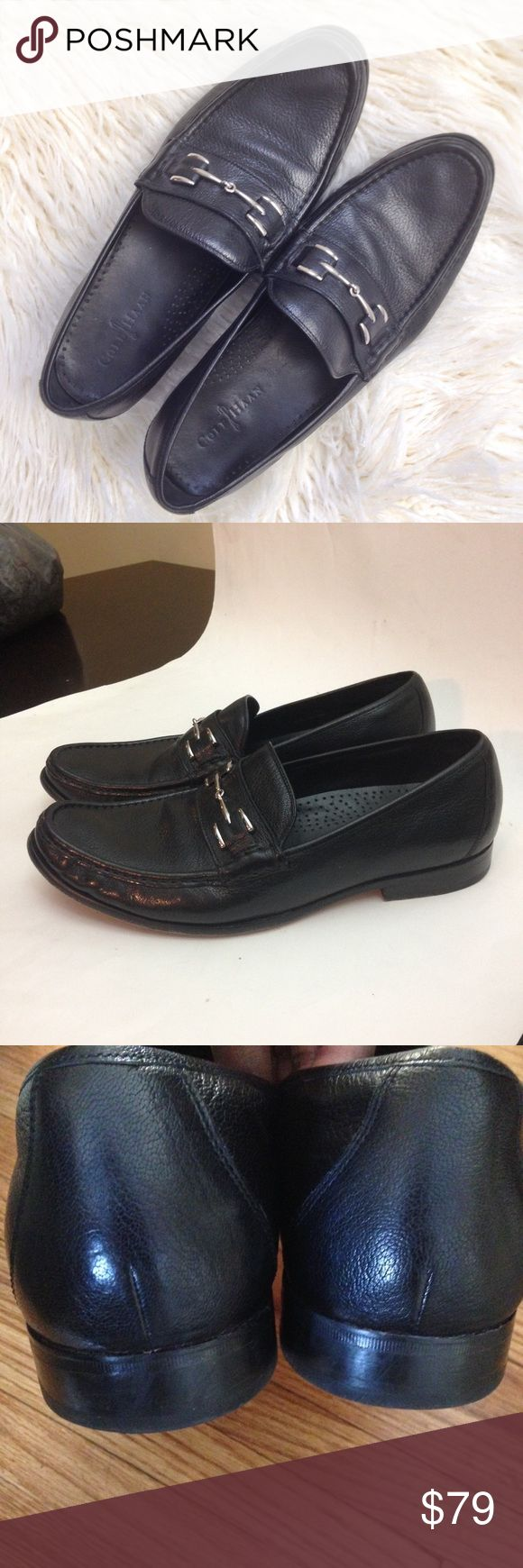 Cole Haan Horse bit Leather Loafers 👞 Up for your consideration. Beautiful black Cole Haan Loafers with Nike Air Technology. Size 13M. Leather Soles. Excellent pre-owned condition. Wasn't worn much. Cole Haan Shoes Loafers & Slip-Ons