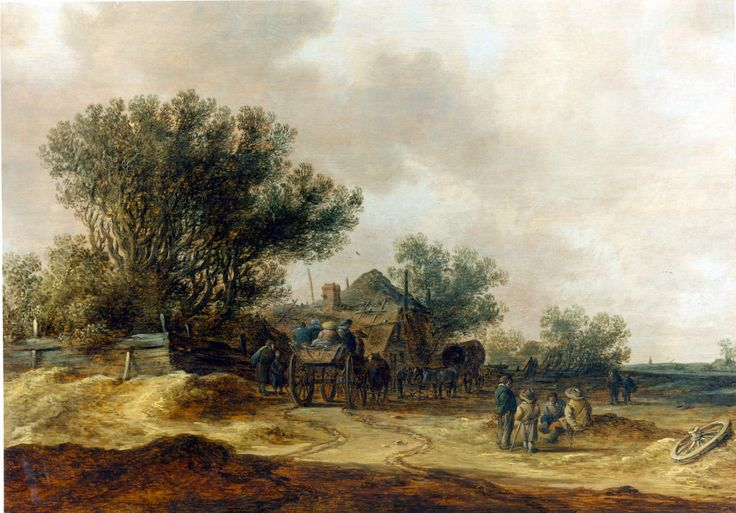 Jan van Goyen, Een kleine boerderij in een landschap, foto Douwes Fine Art