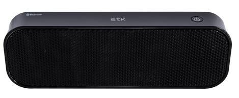 SMC960 Black Bluetooth Stereo Speaker..  This portable Bluetooth stereo speaker is suitable to use with a mobile phone or any other device with Bluetooth.  It has 2 powerful 3W speakers and a music playback time of up to 5 hours, all with a charging time of only 2 hours. It has easy to use previous track / volume down and next track / volume up buttons and a play / pause button.