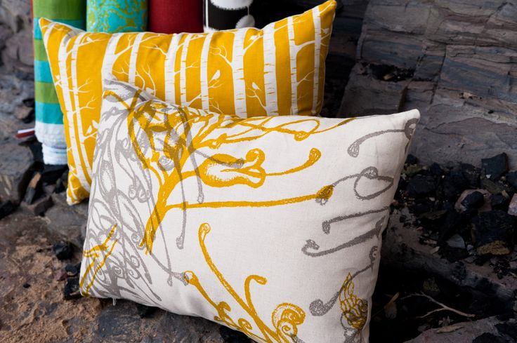 Handprinted stunners - Ink & Spindle fabric