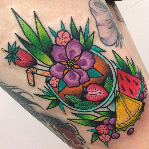 traditional tropical tattoos