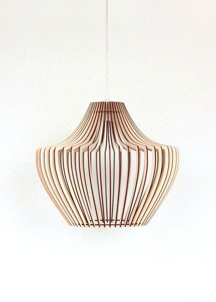Pendant Lighting – 30cm Wood Lamp, Pendant Light, Wooden Lamp Shade  – a unique product by KWUD on DaWanda