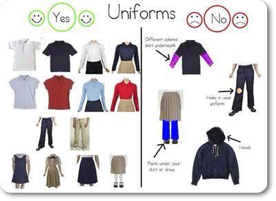 Harrison b vs school uniforms