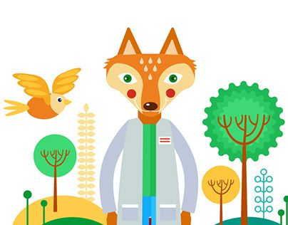 "Check out new work on my @Behance portfolio: ""Fox doctor"" http://be.net/gallery/41325919/Fox-doctor"