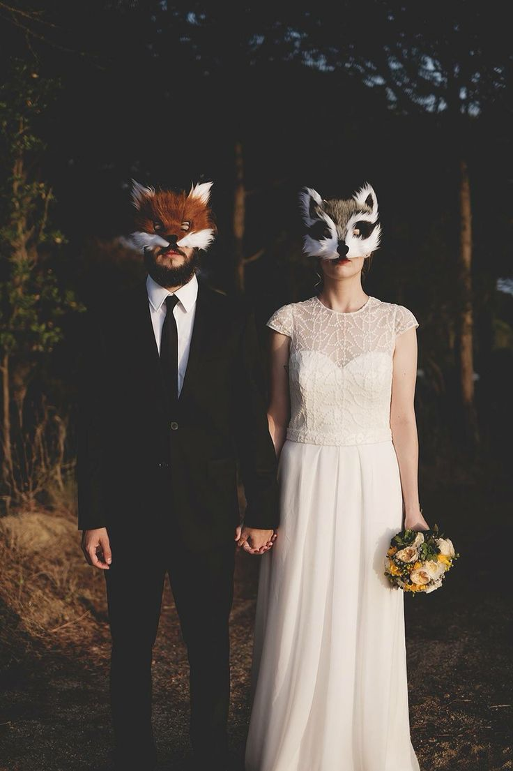 Yes to Wes Anderson. Yes to foxes. Yes to wedding day photos.