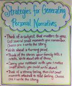 Strategies for generating personal narratives/small moments