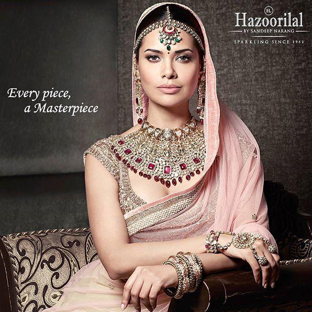 #PricelessPolki - Perfection personified in this regal piece of art. #HazoorilalBySandeepNarang #EveryPieceAMasterpiece #CampaignHazoorilal @egupta #UncutDiamonds #BridalLooks2016 #BridalJewellery #ItcMaurya #DlfEmporio #HazoorilalJewellersGK #Hazoorilal