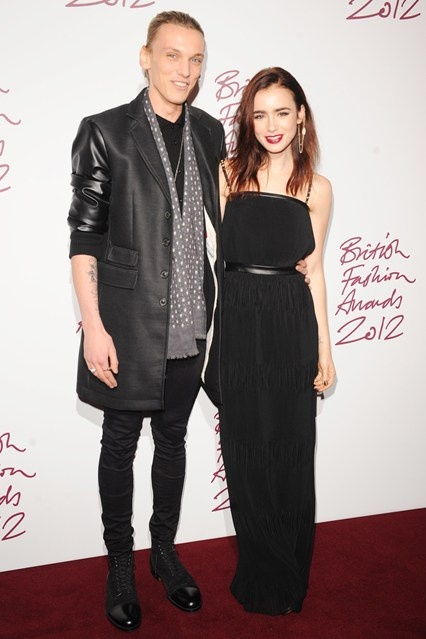 Jamie Campbell Bower attended with girlfriend Lily Collins.