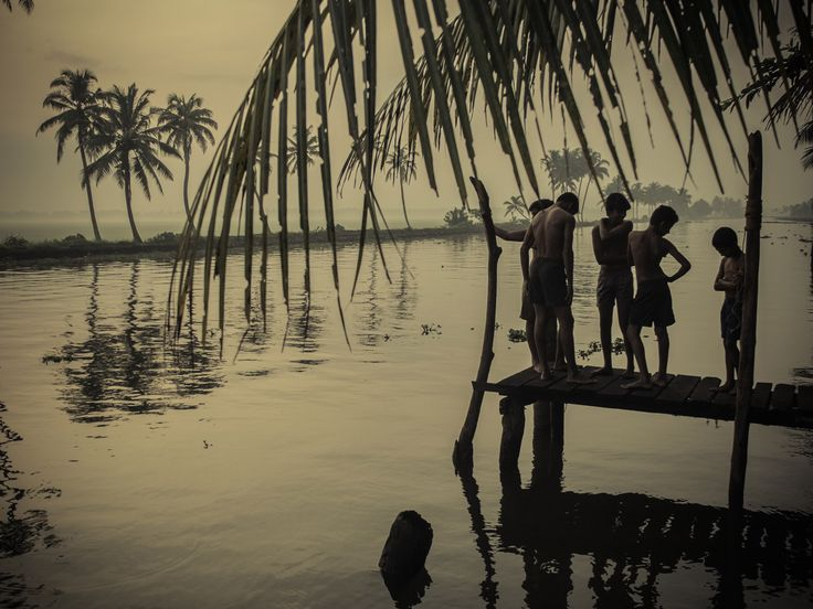Swimmer boys by the backwaters III Fujifilm X20